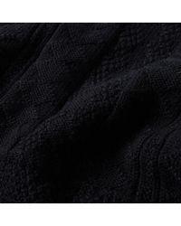 A.P.C. Blue Aran Crew Knit for men