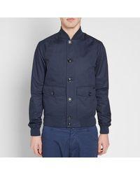Woolrich Blue Summer Bomber Jacket for men