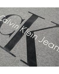 CALVIN KLEIN 205W39NYC Gray Ck Reissue Tee for men