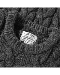 Neighborhood Gray Fisherman Cable Knit for men