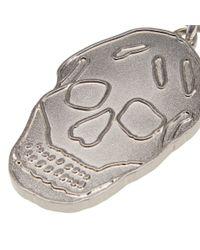Alexander McQueen Metallic Skull Keyring for men