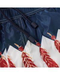 Valentino Blue Zandra Rhodes Printed Swim Short