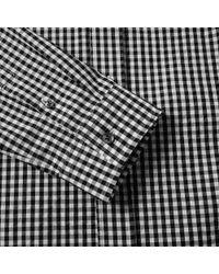 Maison Margiela Black 14 Button Down Gingham Shirt for men