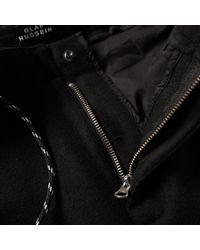 Olaf Hussein Black Wool Trouser for men
