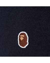 A Bathing Ape Blue One Point Ape Head Beanie for men
