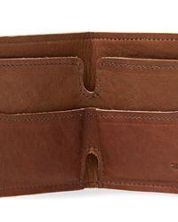 Shinola Brown Bi-fold Wallet for men