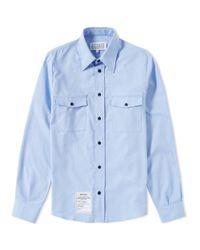 Maison Margiela Blue 14 Replica 2 Pocket Shirt for men