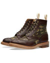 Tricker's Brown End. X Tricker's Camo Insert Kelmscott Boot for men