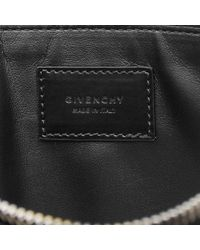 Givenchy Black Large Stars Embossed Pouch for men