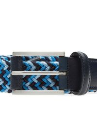 Andersons Blue Anderson's Woven Textile Belt for men