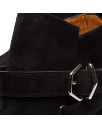 Acne Black Julian Suede Buckle Ankle Boot