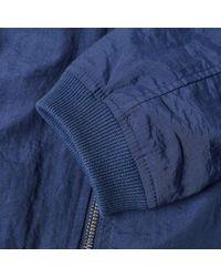 MKI Miyuki-Zoku Blue Taslon Nylon Bomber Jacket for men