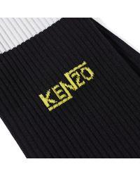 KENZO - Black Stripes Sock for Men - Lyst