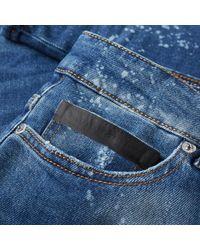 Marcelo Burlon Blue Enrique Slim Fit Jean for men