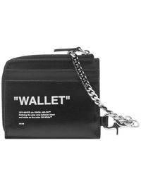 "Off-White c/o Virgil Abloh Black ""quote"" Chain Wallet for men"