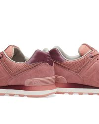 New Balance - Pink Wl574gry - Lyst