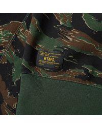 (w)taps Green Design 05 Crew Sweat for men