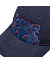 KENZO Blue Neoprene Tiger Cap for men