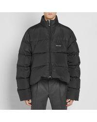 Balenciaga Black Down Jacket for men