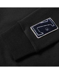 Lanvin Black Stripe Sleeve Sweat for men