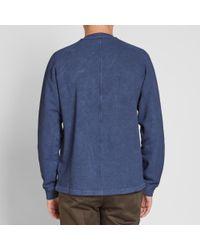 Stone Island Blue Garment Dyed Nylon Metal Crew for men
