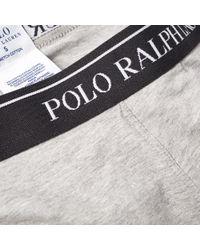 Polo Ralph Lauren Gray Cotton Trunk - 3 Pack for men