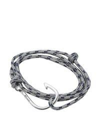 Miansai Gray Silver Hook Rope Bracelet for men