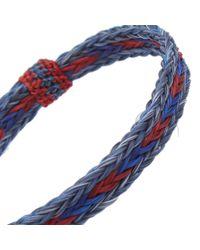 Chamula Blue Braided Horsehair Bracelet for men