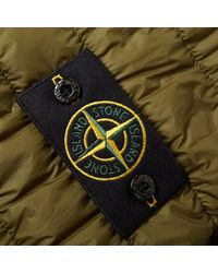Stone Island Green Garment Dyed Micro Down Jacket for men