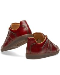 Maison Margiela Red 22 Replica Low Burnished Sneaker for men