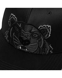 KENZO Black Tiger Cap for men