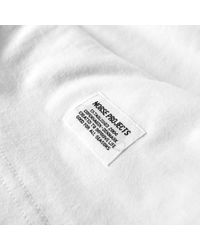 Norse Projects White Long Sleeve Niels Basic Tee for men
