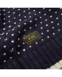 (w)taps - Blue Birdseye Crew Knit for Men - Lyst