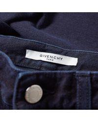 Givenchy Blue Tie Back Denim Jean for men