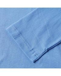 Comme des Garçons Blue Comme Des Garcons Shirt Long Sleeve Rear Print Logo Tee for men