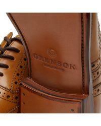 GRENSON - Brown Stanley Brogue for Men - Lyst