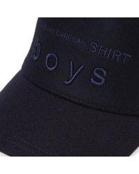 Comme des Garçons Blue Comme Des Garcons Shirt Boys Logo Hat for men