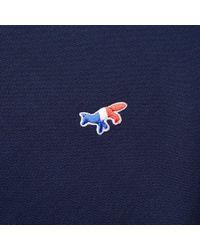 Maison Kitsuné Blue Maison Kitsuné Tricolour Fox Crew Sweat for men