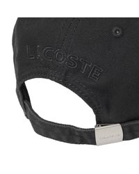 Lacoste Black Small Logo Cap for men