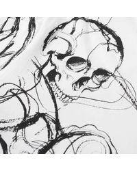 Alexander McQueen White Skull Intarsia Tee for men