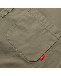 (w)taps Green Gurkha Shirt for men