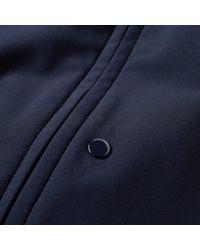 C P Company Blue Softshell Arm Lens Bomber Jacket for men