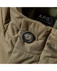 A.P.C. Green Siberian Parka for men