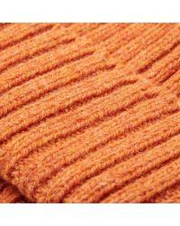Beams Plus Orange Wool Watch Cap for men