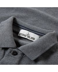 Stone Island Gray Long Sleeve Regular Fit Polo for men