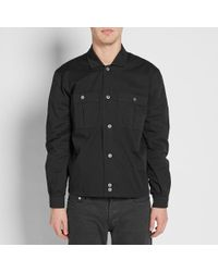 Our Legacy Black Splash Harrington Shirt Jacket for men
