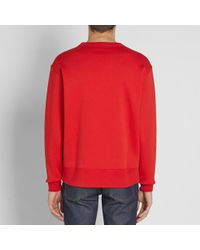 Acne Red Fairview Face Crew Sweat for men