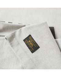 (w)taps Gray Long Sleeve Hellweek Tee for men