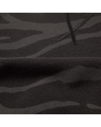 Lanvin Black Zebra Print Crew Sweat for men