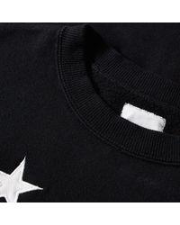 Uniform Experiment Black Star Applique Crew Sweat for men